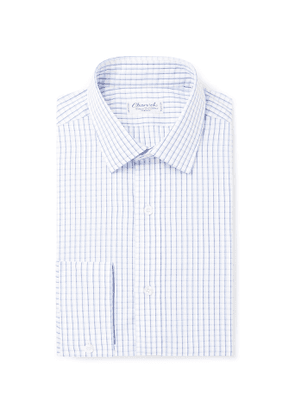 Charvet - Blue Checked Cotton-Poplin Shirt - Men - White