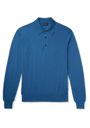 Charvet - Cashmere and Silk-Blend Polo Shirt - Men - Blue