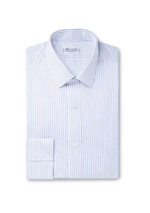 Charvet - Blue Striped Cotton-Poplin Shirt - Men - Blue