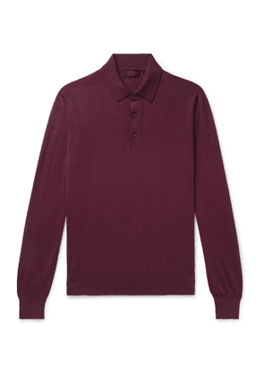 Charvet - Cashmere and Silk-Blend Polo Shirt - Men - Burgundy