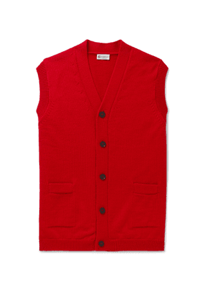 Connolly - Goodwood Wool and Cashmere-Blend Sweater Vest - Men - Red