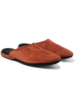 Charvet - Suede Slippers - Men - Brown