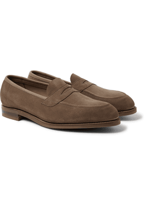 Edward Green - Suede Penny Loafers - Brown