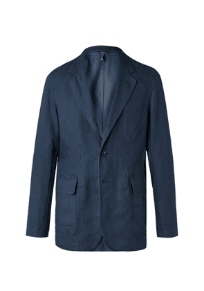 Drake's - Unstructured Cotton Suit Jacket - Blue