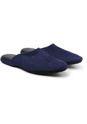 Charvet - Suede Slippers - Men - Blue
