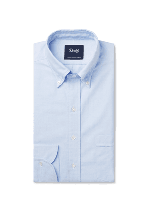 Drake's - Light-blue Button-down Collar Cotton Oxford Shirt - Blue