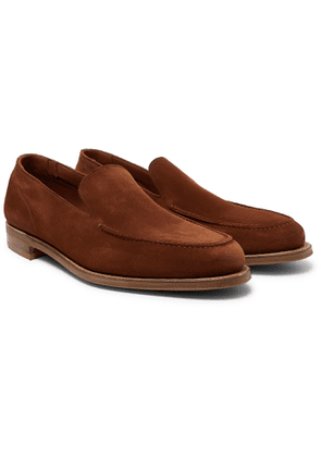 Edward Green - Islington Suede Loafers - Brown