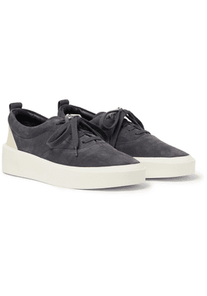 Fear of God - 101 Leather-Trimmed Suede Sneakers - Men - Blue