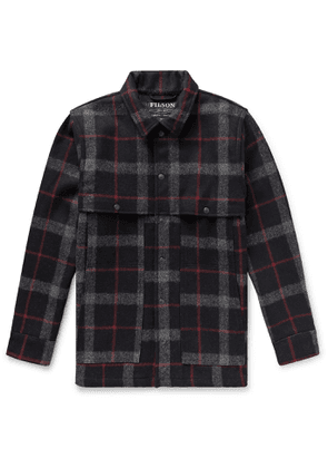 Filson - Layered Checked Wool Coat - Men - Black