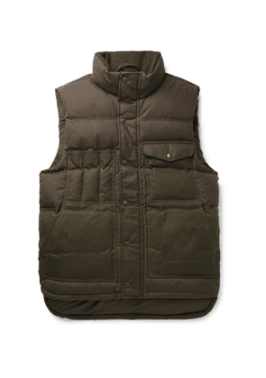 Filson - Cruiser Two-Tone Quilted Cotton Down Gilet - Men - Green