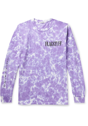 Flagstuff - Printed Tie-dyed Cotton-jersey T-shirt - Purple