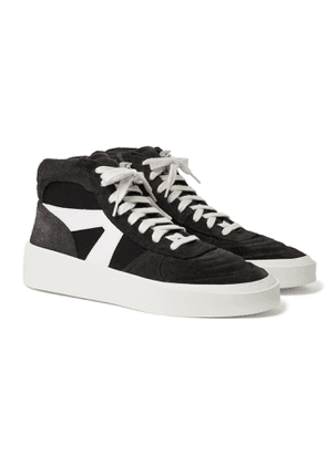Fear of God - Suede, Leather and Canvas High-Top Sneakers - Men - Black
