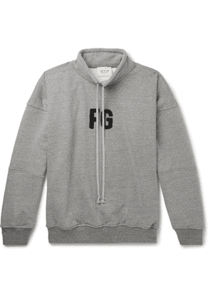 Fear of God - Oversized Logo-Appliquéd Loopback Cotton-Blend Jersey Sweatshirt - Men - Gray