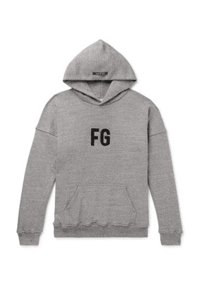 Fear of God - Oversized Logo-Appliquéd Loopback Cotton-Jersey Hoodie - Men - Gray
