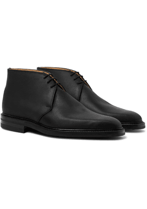 George Cleverley - Nathan Suede Chukka Boots - Black
