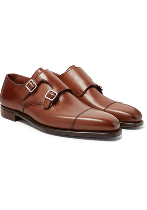 George Cleverley - Thomas Cap-toe Leather Monk-strap Shoes - Brown