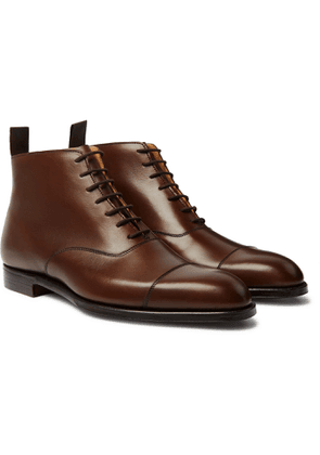 George Cleverley - William Cap-toe Cotswold Grain Leather Boots - Brown