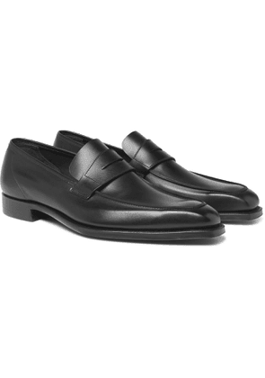 George Cleverley - George Suede Penny Loafers - Black