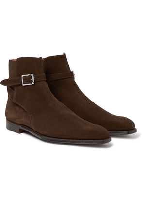 George Cleverley - Morris Suede Chelsea Boots - Brown