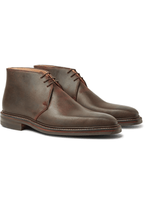 George Cleverley - Nathan Distressed Leather Chukka Boots - Brown