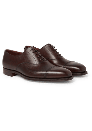 George Cleverley - Charles Cap-toe Full-grain Leather Oxford Shoes - Brown