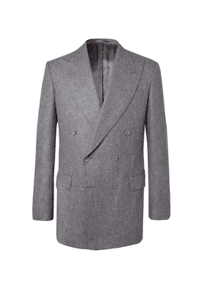 Maximilian Mogg - Grey Double-Breasted Wool-Flannel Suit - Men - Gray