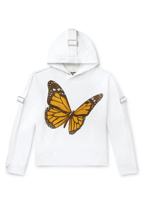 Palm Angels - Oversized Canvas-trimmed Printed Cotton-jersey Hoodie - White