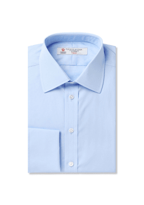 Turnbull & Asser - Pink Double-Cuff Cotton Shirt - Men - Blue