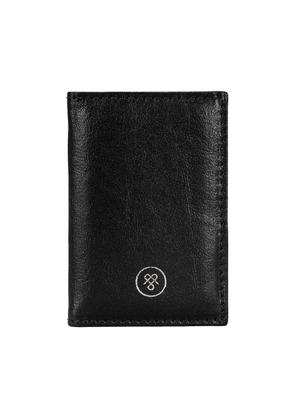 Maxwell Scott Bags Italian Crafted Black Mini Pocket Leather Adress Book