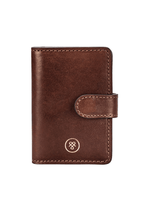 Maxwell Scott Bags Timeless Tan Real Leather Mini Pocket Diary