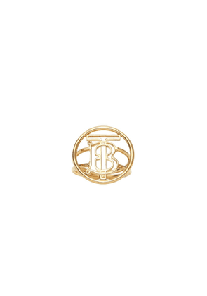 Burberry Large Gold-plated Monogram Motif Ring