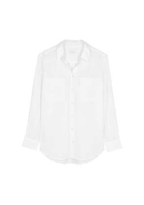 Equipment Slim Signature White Silk Shirt