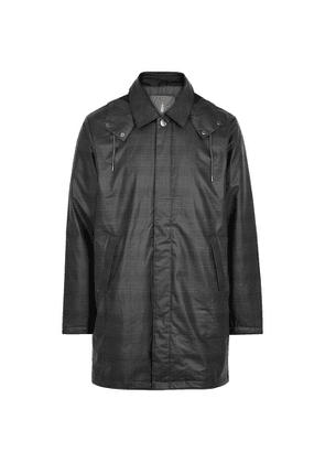 Rains Grey Checked Coated Raincoat