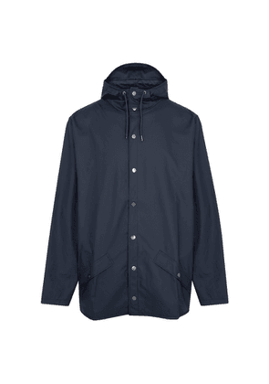 Rains Navy Water-resistant Rubberised Raincoat