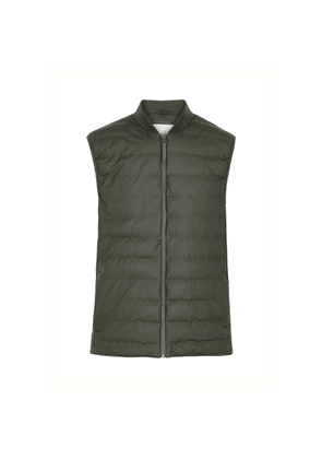 Rains Dark Green Coated Shell Jacket