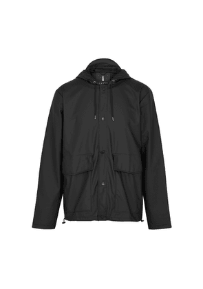 Rains Black Rubberised Raincoat