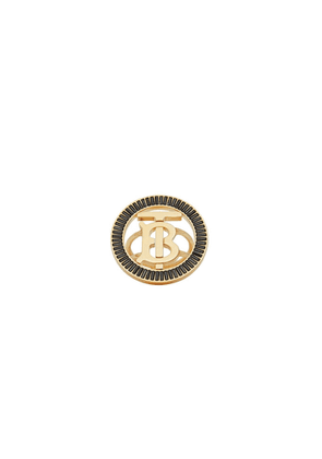 Burberry Crystal Detail Gold-plated Monogram Motif Ring