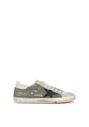 Golden Goose Deluxe Brand Superstar Distressed Canvas And Suede Sneakers