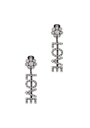 Ashley Williams Love Crystal-embellished Clip-on Earrings