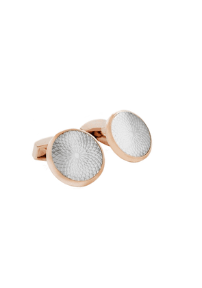 Tateossian Cufflinks In Rose Gold With White Mother Of Pearl