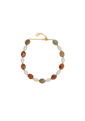 Anissa Kermiche Serpent Beaded Gold-plated Anklet