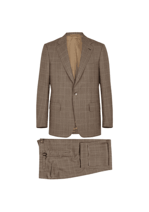 FRÈRE Brown Checked Wool Suit