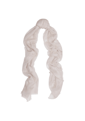 Denis Colomb Feather Toosh Blush Fine-knit Cashmere Scarf
