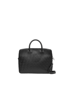 Burberry Monogram Leather Briefcase
