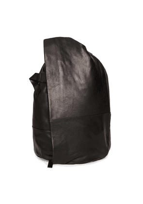 Côte & ciel Isar Medium Black Leather Backpack