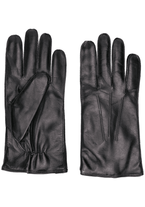 Ann Demeulemeester stitched leather gloves - Black