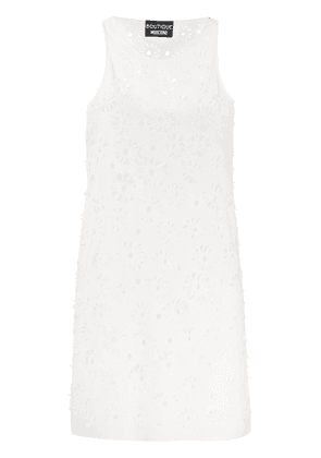 Boutique Moschino floral cut-out shift dress - White
