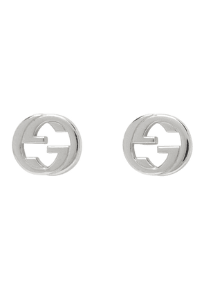 Gucci Silver Interlocking G Stud Earrings