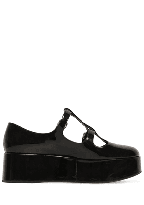 50mm Patent Leather Wedges