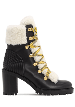 70mm Yetita Shearling & Leather Boots